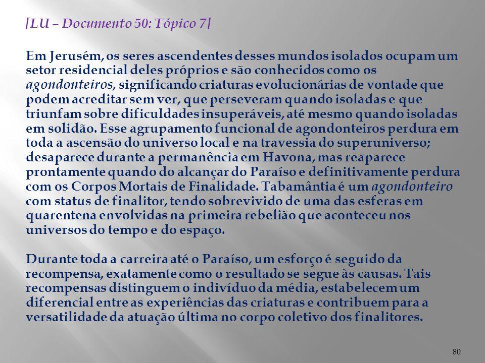 [LU – Documento 50: Tópico 7]